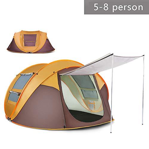 Automatisch Sofortiges Popup Zelt 3-4 Personen / 5-8 Personen, 260X150x105cm / 280 x 200 x 120 cm, Für Camping Einschichtig 1 Zimmer Wasserdicht Anti-UV Vier Jahreszeiten Ultraleicht 1,6-2 kg Zelt