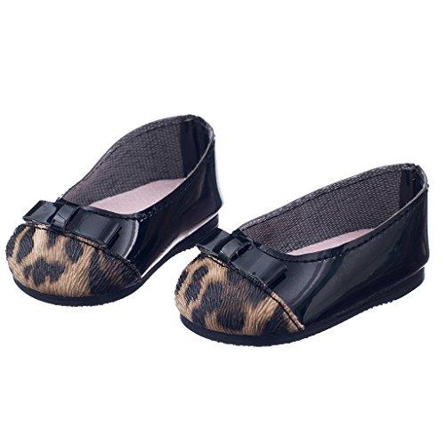 MagiDeal Chaussures Ballerines Léopard pour Poupées Fille Américainne 18 inch