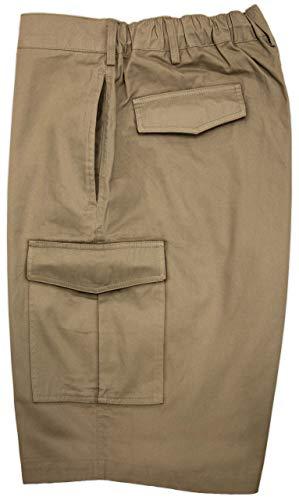 Falcon Bay New Cargo Shorts Expandable Waist 3XL Khaki #450C