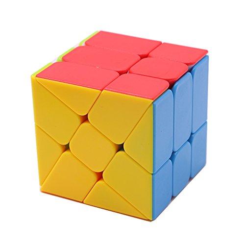 EasyGame-- Fanxin Axis V2 Nueva versión 3x3 Cubo mágico 3x3x3 Moyu Axis V2 Cubo V2 Velocidad Cubo Rompecabezas Candy Brain Treaser Toys (Wheel Cube)