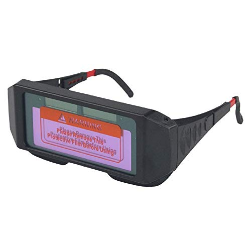 Casco de soldador Gafas de soldar Gafas soldadas de alta calidad Protección Gafas de protección Automatización Darking Safety Lightweight Solar Energy Resting