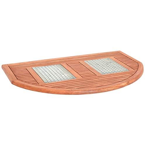 Pureday Tappetino per Pavimenti in Legno per Esterni, semicircolare Griglia