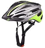 Cratoni Pacer+ - Casco de ciclismo (talla S-M, 54-58 cm), color negro y verde...