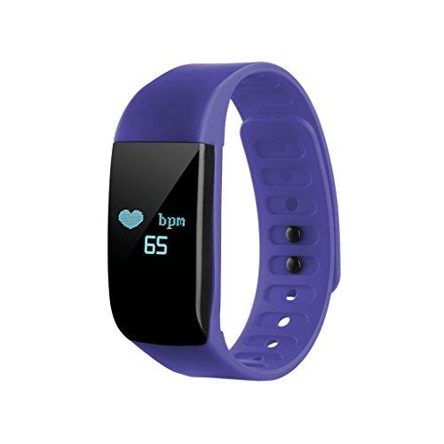 NONMON Frequenza Cardiaca Orologio, Activity Tracker Bracciale con il Funzionamento Cardiofrequenzimetro, Pedometro, Blu
