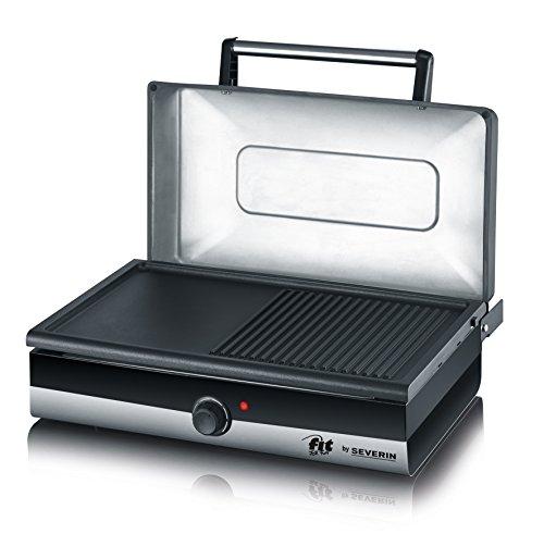 SEVERIN PG 2368 Barbecue-/Tischgrill (2.200W, Grillfläche, 41,5x23,5 cm) schwarz
