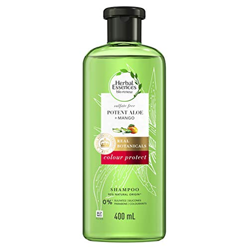 Herbal Essences Sulphate-free Potent Aloe and Mango Colour Protect Shampoo For Coloured Hair, 400ml