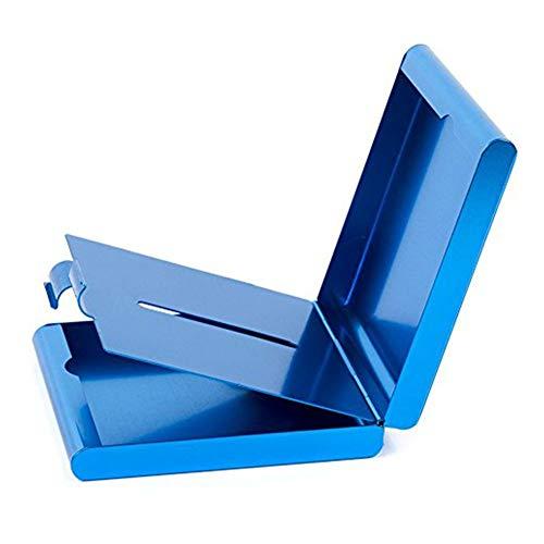 ToBeIT ToBeIT blau Zigarettenetuis aus Aluminium - Metall Etui Zigaretten/Zigaretten Kasten für 20 Stücke Zigaretten