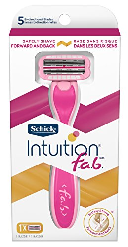 Schick Intuition f.a.b. Razor, Effortless Shaving for Women, 1 Handle and 1 Razor Blade Refill