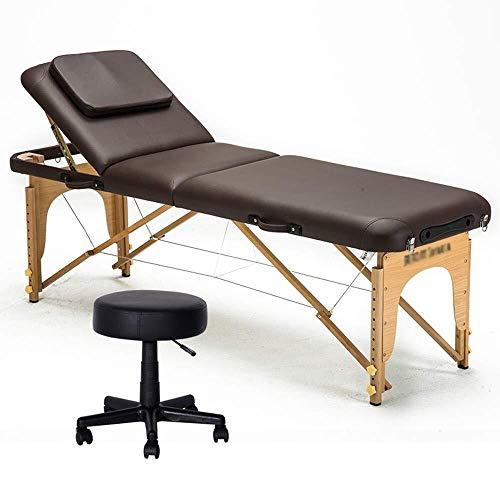 YouYou-YC Folding massagebed, massagebed, tafel, massief hout, bed, met tattoo, draagbaar, opvouwbaar, vrij, maandag, fysiotherapie, massage
