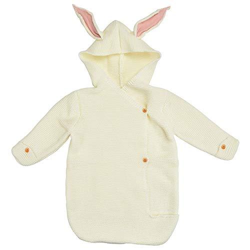 Baby Shark Bites Babyschlafsack Neugeborene Decke verpackt in einer Snuggle Wrap Kaninchen Schlafsack für Babys 28.74 inches weiß