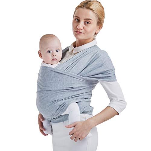 Sac à dos Porte Bébé CuddleBug pour Enfant Nouveau-né, Echarpe de Portage Pour Transporter le Bébé (gris)