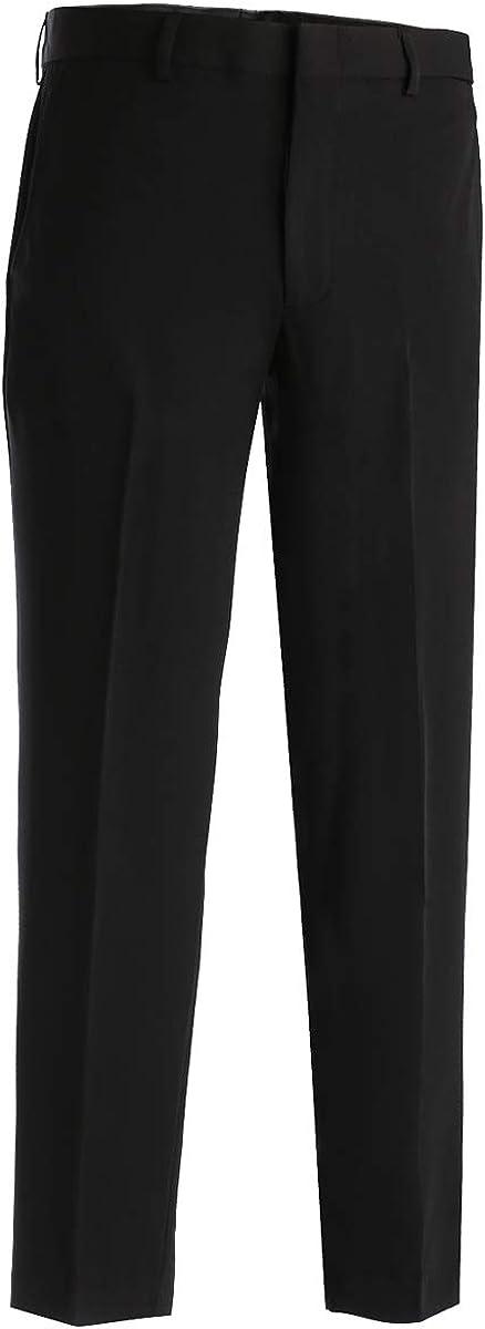 Edwards Garment Men's Classic Front Comfort Stretch Casual Pant, Black, 38 26