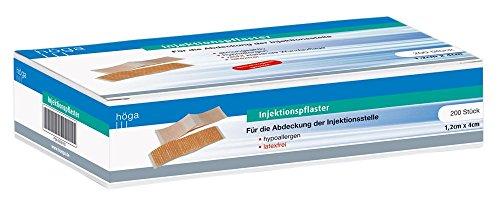 Injektionspflaster Für die Abdeckung der Injektionsstelle - 1,2 x 4 cm - á 200 Stück - dermatologisch getestet, 200 Pflaster