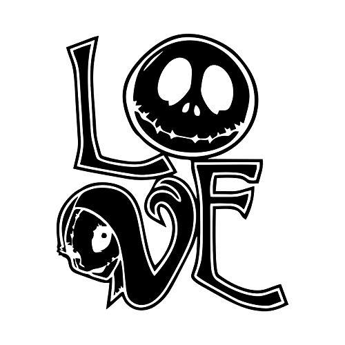 Nightmare Christmas Love Sally and Jack Decal Vinyl Sticker Cars Trucks Vans Walls Laptop | Black | 5.5