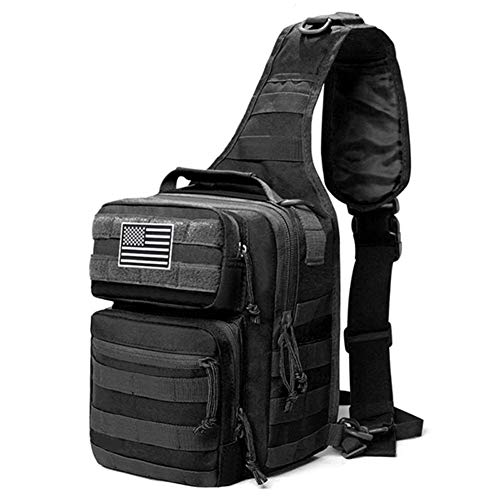 GZRUIGE 600D Military Tactical Single Shoulder Backpack Army Molle Assault Sling Bag Small One Strap Daypack Military Tactical Bags