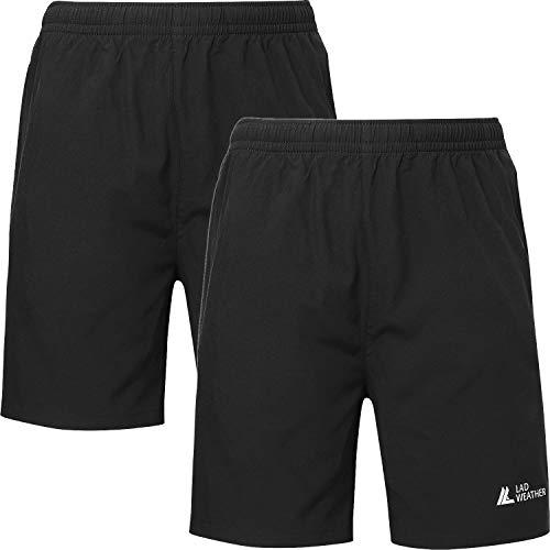 [ラドウェザー] ハーフパンツ 2枚セット メンズ レディース 吸水速乾 ショートパンツ スポーツウェア トレーニングウェア 半ズボン 短パン