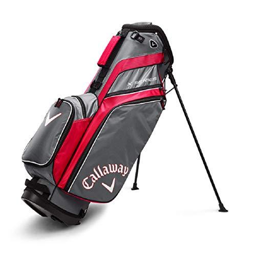 Callaway Herren X-Serie Standbag Golf, Herren, Golftasche, 5119280, Rot/Titan/Weiß, Einheitsgröße