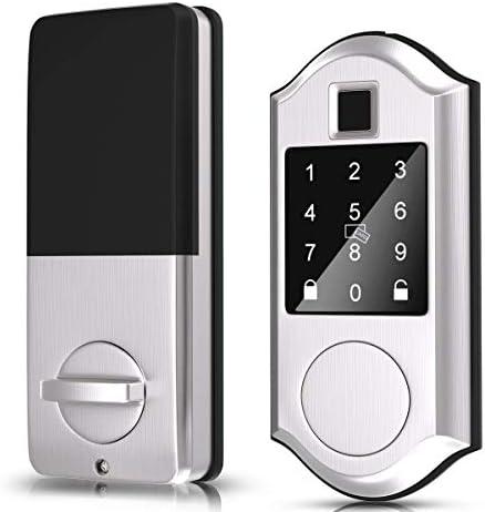 Narpult Fingerprint Smart Lock Keyless Entry Door Lock Electronic Deadbolt Door Lock Bluetooth product image