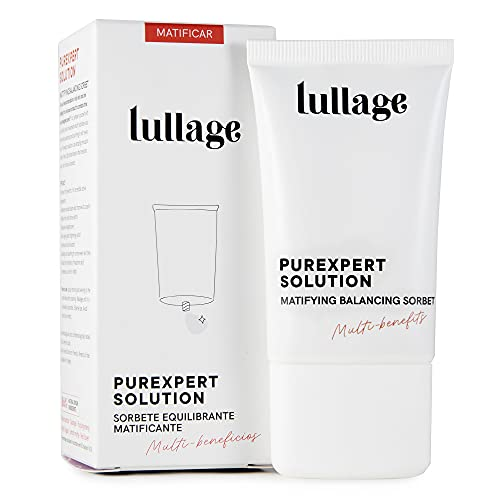 LULLAGE Sorbete Equilibrante e Hidratante   Crema Matificante Piel Mixta - Grasa, 40 ml   Tratamiento Multi-beneficios VEGANO y Natural   Purifica y Controla el Brillo en la Piel, Purexpert Solution