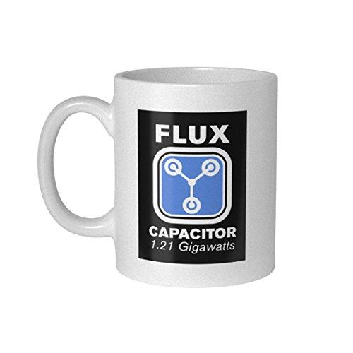 getDigital Fluxkompensator Becher Tasse für Nerds und Geeks, Keramik, weiß, 10 x 10 x 10 cm