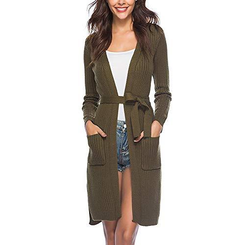 Initial dames herfst en winterjas lange gebreide jas met lange mouwen vrouwen gebreide jas jas