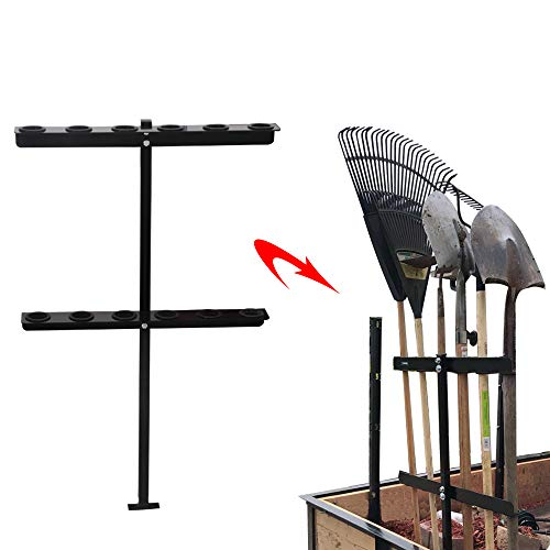vikofan Landscape Hand Tool Rack with 6 Tool Hole Fit for Truck Trailer