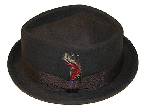 Chapeau de porc pliable en diamant avec bande assortie Marron Taille M