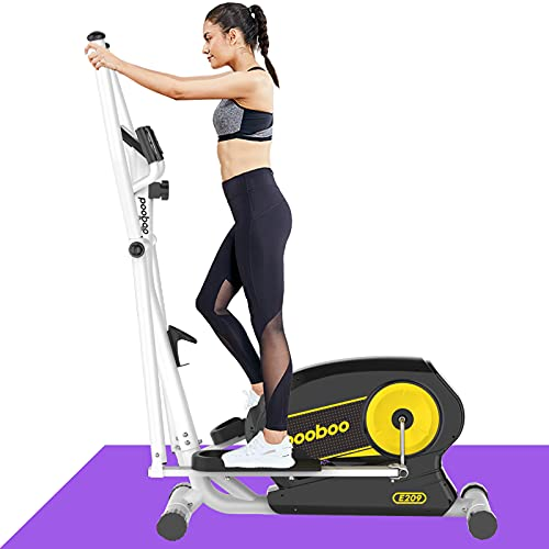 Afully Elliptical Machine Eliptical Trainer with 8 Levels Magnetic Resistance,Tablet Holder, LCD Monitor, Pulse Sensors, Smooth and Quiet for Home Use (E208-18)