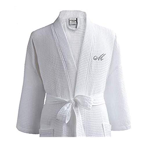 Luxor Linens Waffle Robe - 100% Egyptian Cotton - Unisex/One Size Fits Most - Waffle Weave, Spa Bathrobe, Luxurious, Soft, Plush Seasons Giovanni Collection