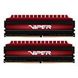 Viper 4 PV48G300C6K DDR4 3000MHz C16 Módulo de Memoria XMP 2.0 Alto Rendimiento Rojo 8 GB (2x4GB)