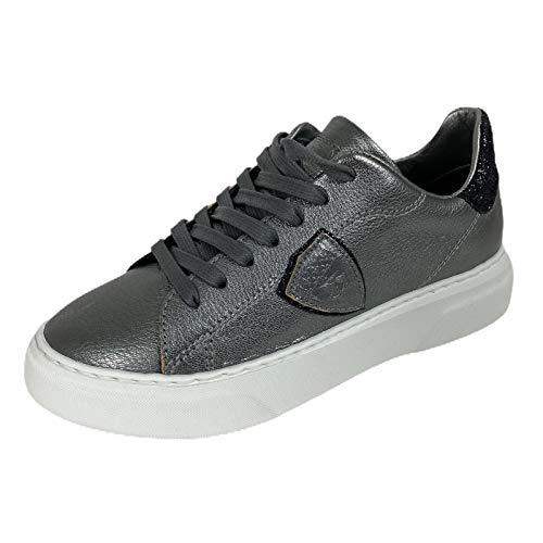 Philippe Model D30 Sneaker Donna Metal Glitter Grey Shoe Woman [35]