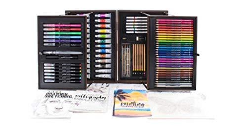 Set de Arte Maletin color café 151 Piezas