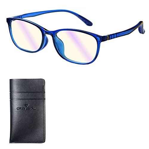 CREYESTAL Gafas Anti Luz Azul Niños, de 5 a 12 años, Alta Protección frente a cualquier pantalla (Ordenador, Smartphone, Videojuegos, Tablet)