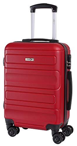 CABIN 5515 Valigia Trolley ABS, bagaglio a mano 55x37x20, Valigia rigida, guscio duro e antigraffio con 8 ruote, Ideale a bordo di Ryanair, Alitalia, Air Italy, easyJet, Lufthansa