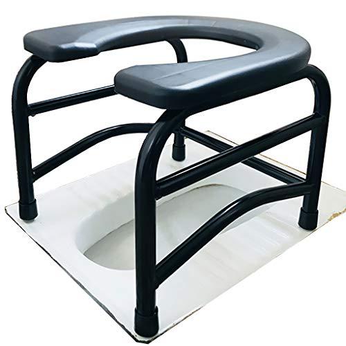 KYSZD-WC-Sitze Mobiler Nachttisch, rutschfest Tragbarer Toilettenstuhl, Geeignet für übergewichtige Erwachsene, ältere Menschen, Schwangere, Behinderte