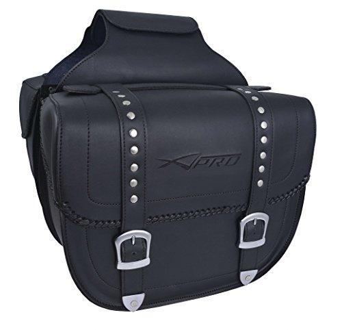 A della Pro Travel Pair Custom high Resistance Saddle Bag Motor Bike Pannier Black
