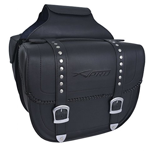 A della Pro Travel Pair Custom high Resistance Saddle Bag Motor Bike Pannier Black