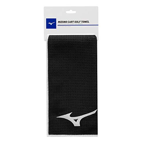 Mizuno Unisex Micro Fibre Cart Golf Towel - Black - OS