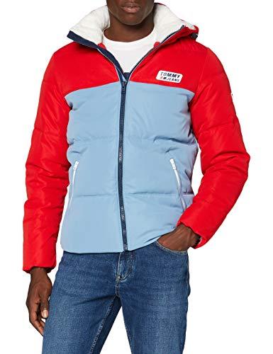 Tommy Hilfiger TJM Colorblock Jacket Chaqueta, Carmesí profundo/denim vintage, M para Hombre