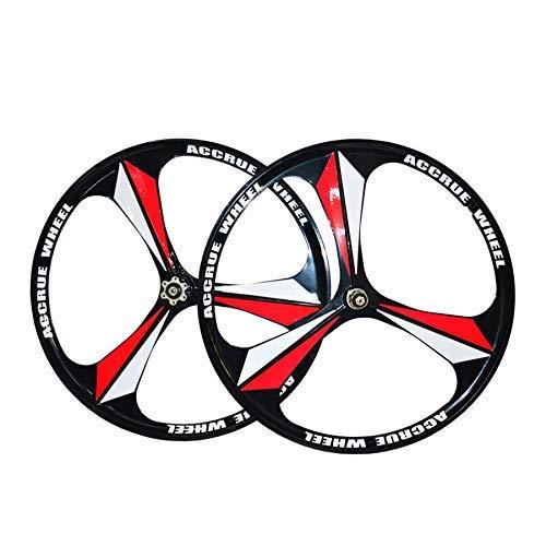 ALTRUISM Cerchi MTB Cerchio 3 Razze Cerchi in Lega di Magnesio da 26'Pollici Cerchi Bici da Mountain Bike Cerchi da Mountain Bike (Bianca)