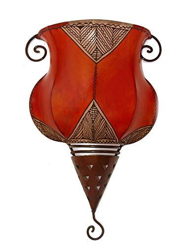 Orientalische Lampe arabische Wand Leuchte Henna Leder 1001 Nacht Marrakech - 905045-0014