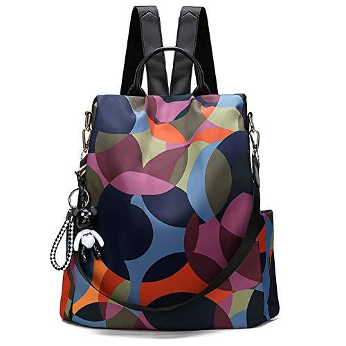Wilslat Rucksack für Damen, Diebstahlschutz, wasserdicht, Oxford, multifunktional, leicht, wandelbar, kleiner Rucksack