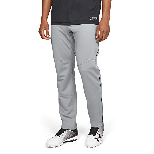 Under Armour Men's IL Ace Relaxed Pants Pipe, Baseball Gray (080)/Black, Large