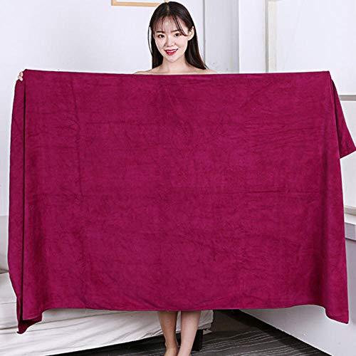 Lyolk Toallas Grandes absorbentes para Adultos, Toallas de Cama Grandes y Toallas de baño para Hombres y Mujeres, Vino Tinto_80x180 Extra Gruesas