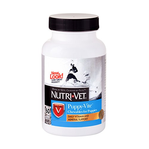 Nutri-Vet Multi-Vite Chewables for Puppies | Formulated with Vitamins & Minerals to Support Balanced Diet | 60 Count (1001085)