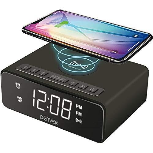 Denver Electronics CRQ-105 - Radio (Reloj, Digital, FM,PLL, LED, 2,29 cm (0.9'), Negro)