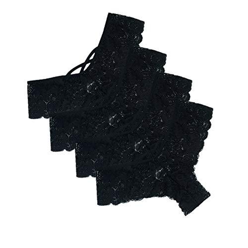 Lialbert 4er-Pack Damen Tangas Spitze G-Strings Slips Frauen Unterwäsche Erotische Wäsche Dessous Reizunterwäsche Unterhosen (L =Taille:72-82cm/28.3