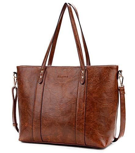 Bageek Handtasche Damen Shopper Handtasche Braun Damentaschen Groß Designer Taschen PU Leder Handtasche