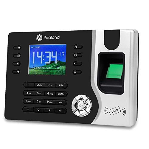 Hdliang TCP/IP/USB-Fingerabdruck Zeiterfassungs-Managementsystem Biometrischer RFID-Kartenleser Mitarbeiter Check-in-Rekorder Realand A-C071 Stechuhr mit Software