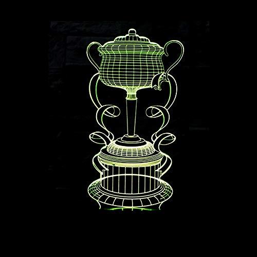 Kleurrijke visuele lichten van de Trofee 3D verlicht nachtkastje LED-illusie creatieve ontwerp van de 3D-lampen